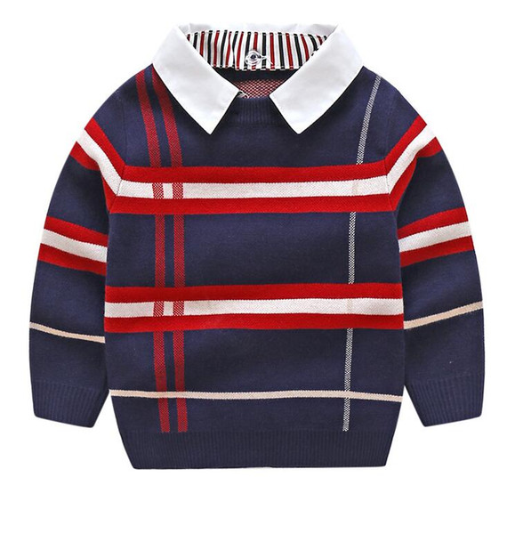 top popular Boys Sweatershirt Autumn Winter Brand Sweater Coat Jacket For Toddle Baby Boy Sweater 2 3 4 5 6 7 Year boys Clothes 2021