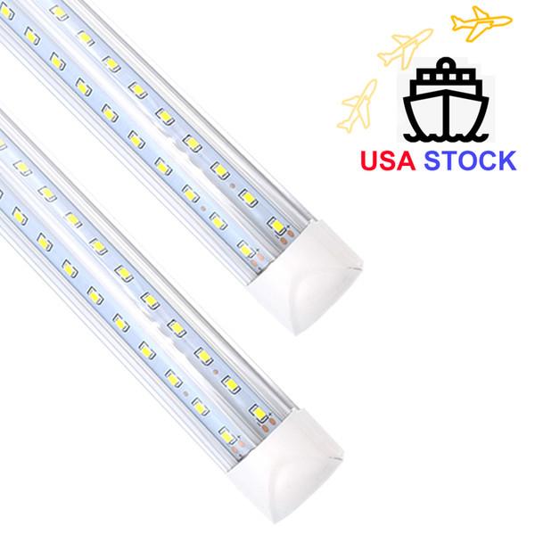 """(US STOCK)8FT 72W T8 LED Tube, CRESTECH LED LIGHTING 96"""" V-shaped Integrated Light Bulb 7200LM Lamps 6000K Cool White"""