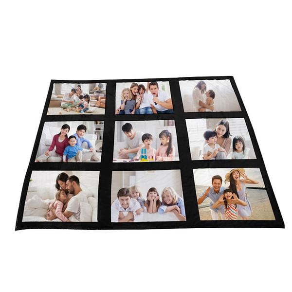 best selling 125*150cm Sublimation Thermal Fleece Blanket Heat Print Fabric Plush Mat DIY Blank Carpet 9 15 20 Grids Plaid Blankets Bed Quilt DDA822