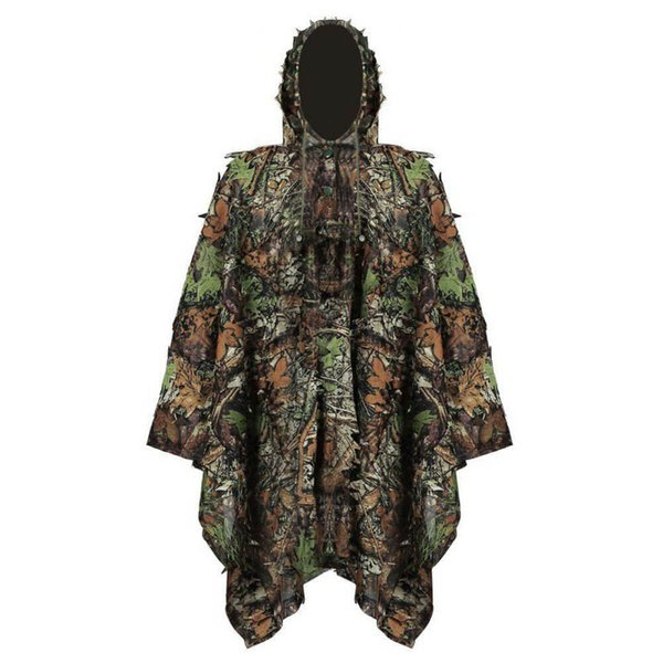 best selling Outdoor Sports Shooting Combat Clothes Birding Suit Camo Bionic Leaf Sniper Camouflage Clothing Tactical Leafy Poncho Ghillie Suit NO05-301