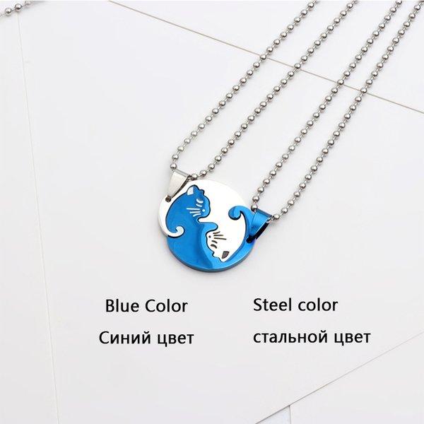 Runde Katze blaue Stahl
