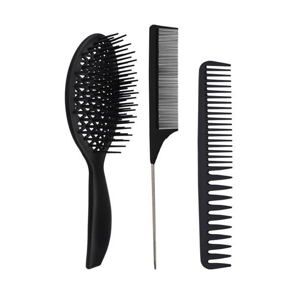 best selling Factory direct ladies curled hair comb wet two-purpose modeling hair big tooth comb hairdressing massage tool