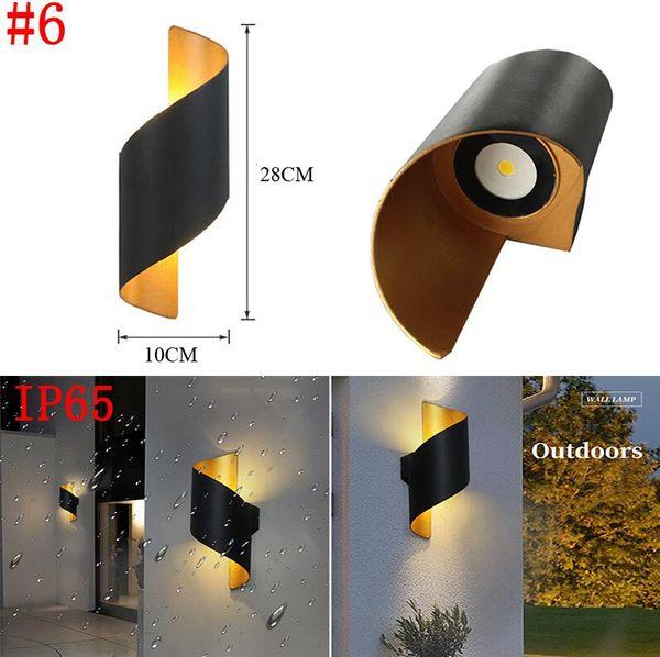 # 6 10 Вт водонепроницаемая настенная лампа