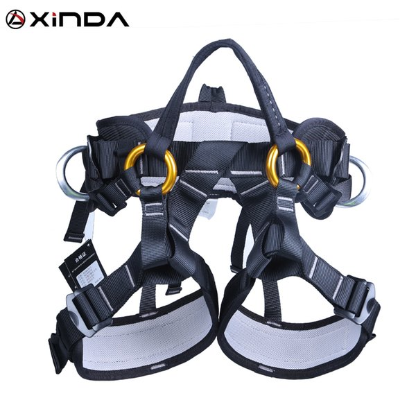top popular XINDA Camping outdoor Climbing half body knee support belt climbing tree sling air sports equipment safety protection XD-A9519 Q1118 2021