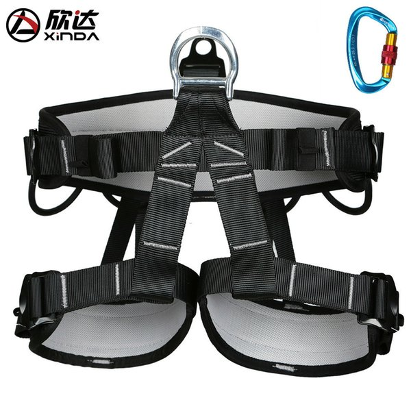 top popular XINDA Outdoor camping aerial hike rock climbing half skin care belt men and women wear harness protection safety belt equipment Q1118 2021