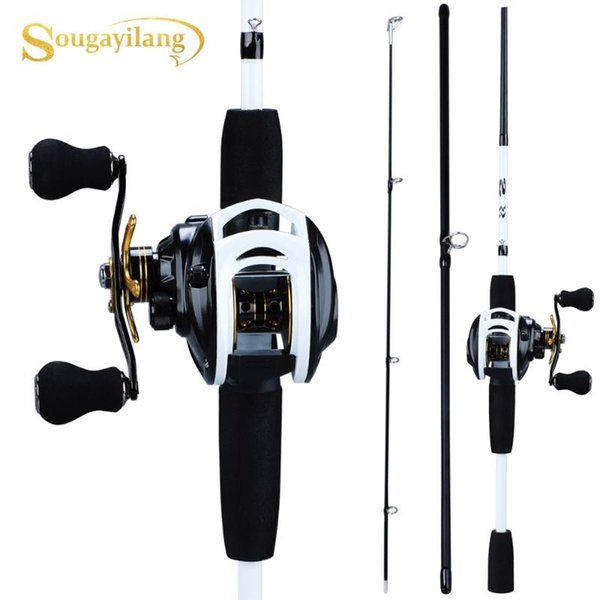 best selling Sougayilang New Fishing Rod Reel Combo Portable 3 Sections 175CM Lure Fishing Rod and 9+1BB Baitcasting Reel Set