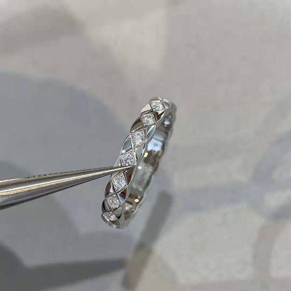 White Check Diamond Ring