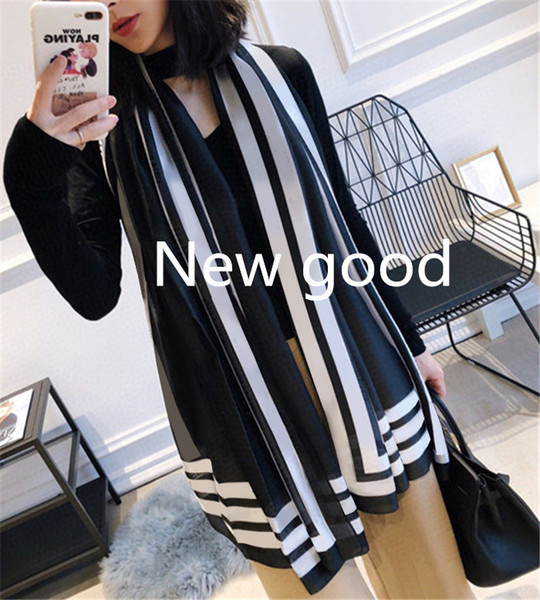 best selling 90-180cm New brand womens senior long Single layer chiffon silk shawls Fashion tourism soft Designer luxury gift scarves printing Scarf