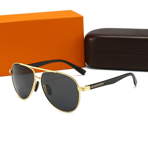 top popular Edition fashion Sunglasses Men Women Metal Vintage Sunglasses Fashion Style Square Frameless UV 400 Lens Original Box and Case 2021