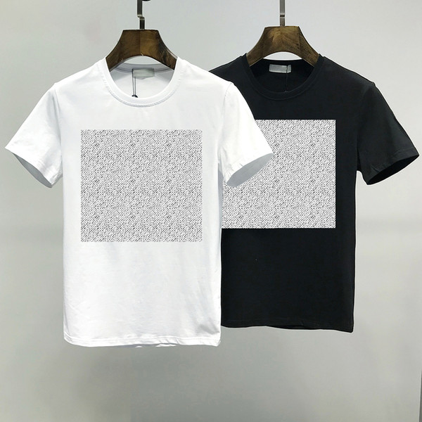top popular 2021 summer mens t shirt fashion simple pure cotton black and white Couples clothing casual high-quality letter embroidery M-2XL 2021