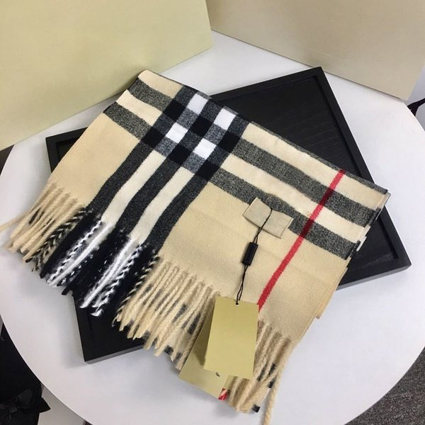 best selling Designers Brand Cashmere High-end soft thick scarf Classic plaid printed men's and women's scarves Size 180x35cm Top Quality Fashion