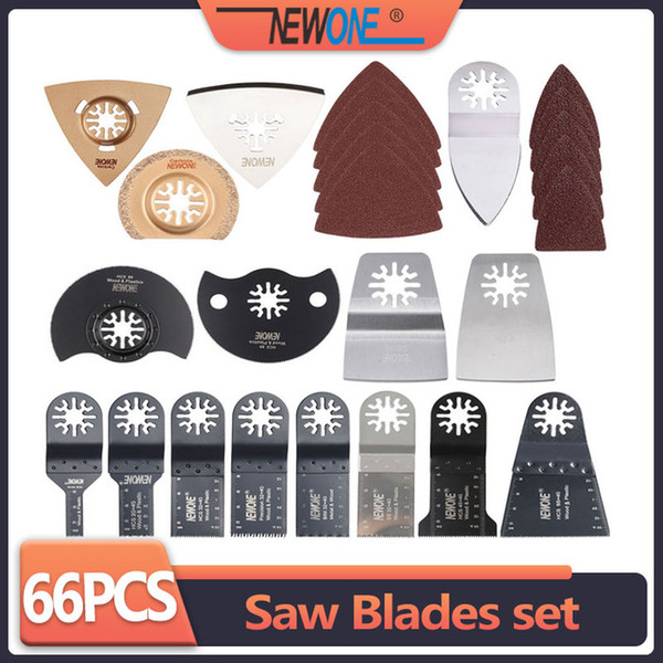 Tools Saw Blade NEWONE 66pcs set Wood Metal Plastic Oscillating Multi Tool saw blades for renovator power tools as Fein multimaster,Dremel