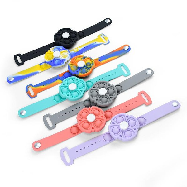 top popular Decompression toy wristband spinning top press puzzle finger toys 2021