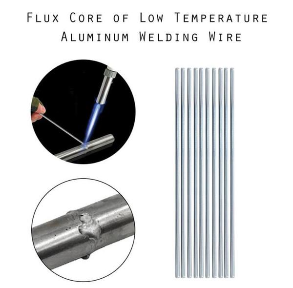 top popular Aluminium Flux Cored Weld Wire Easy Melt Welding Rods for Aluminum Welding Soldering No Need Solder Powder 2021