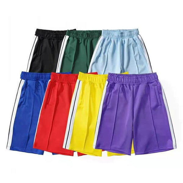 top popular 20SS Palm tree letter printing rainbow strip webbing casual five-point Man pants 2020 Designer Shorts Beach Shorts 2021