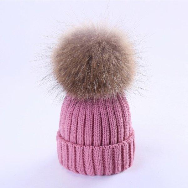 Peau rose (cheveux de chien de 15-18cm)