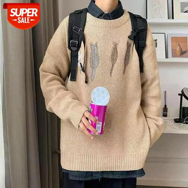 best selling BiggOrange Oversized Pullovers Knitted Sweater women Jumper Pullover Hip Hop Harajuku Casual White Sweater women winter clothes #5x4C