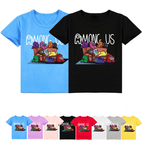 best selling New Among Us Tshirt Kids Hot Game Impostor T-Shirt Short Sleeves Girls Funny Clothes Boys Costume Tee Children 2021 Summer Tops