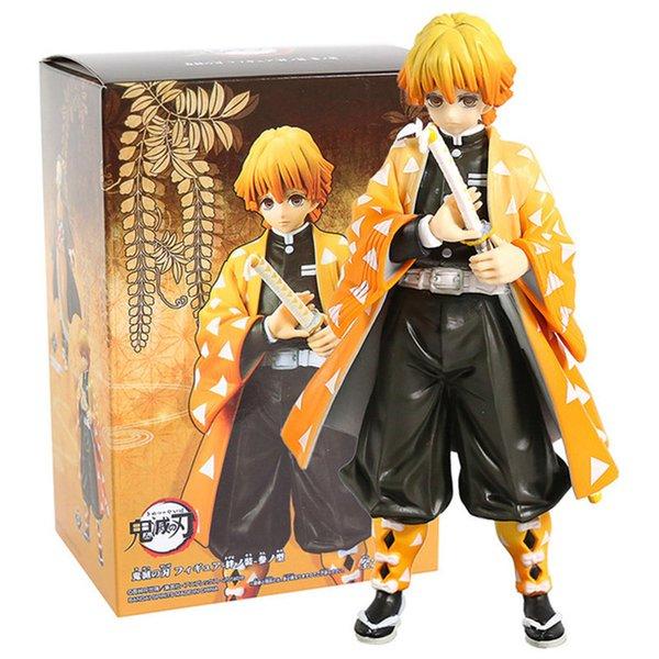 best selling Anime Demon Slayer Figure Kamado Tanjirou Nezuko Action Figures PVC Model Toys Zenitsu Figurine Inosuke Kimetsu No Yaiba Figura L0303