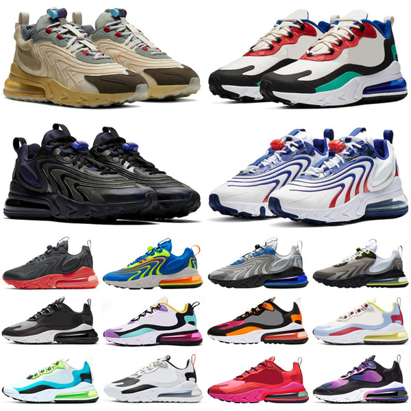 top popular 2021 270 react ENG 270s men women mens shoes bauhuas Right Violet USA outdoor womens trainers sports sneakers runners 2021
