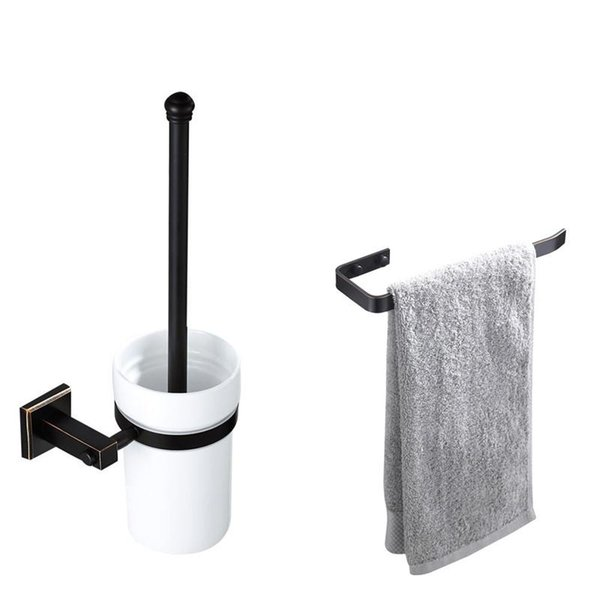 best selling Towel Ring Holder Brass Toilet Roll Paper Holder Oil Rubbed Bronze Bathroom Accessories Toilet Brush Set Wall Mounted