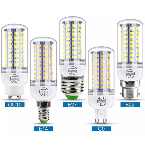 best selling Led Corn light SMD5730 E27 GU10 B22 E14 G9 LED lamp 7W 12W 15W 18W 220V 110V 360 angle SMD LED Bulb Dropshipping