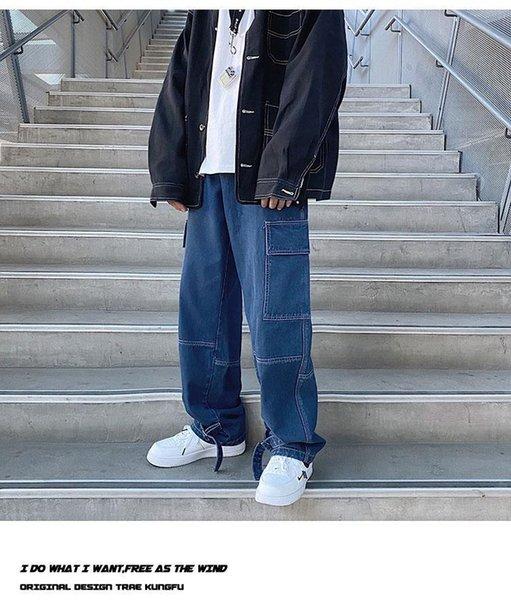 Глубокие голубые джинсы мужские