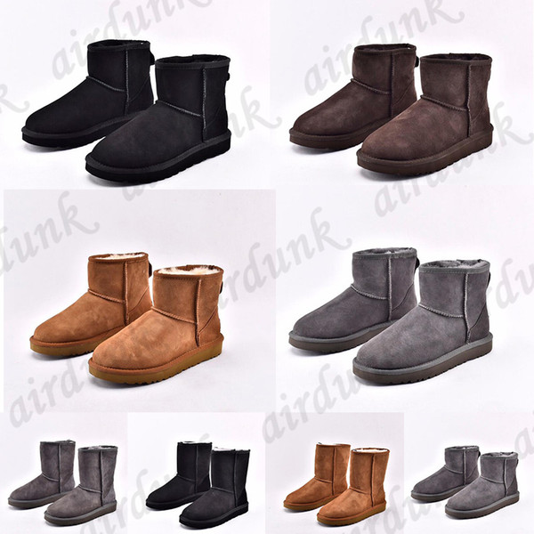 top popular 2021 Designer women australia australian boots women winter snow fur furry satin boot ankle booties fur leather outdoors shoes 2021