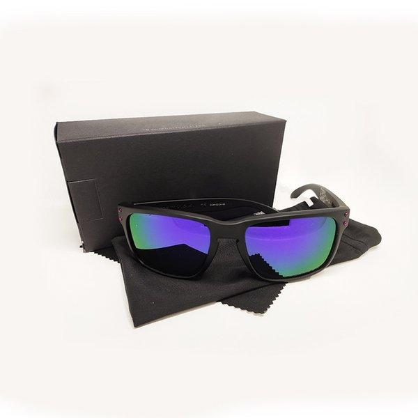 matte black purple lens