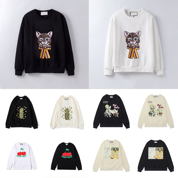 top popular 21ss Womens Mens Hoodies Fashion Cat Animal autumn and winter men's long sleeve Hooded Pullover Clothes Sweatshirt 2021