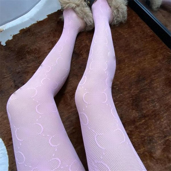 best selling Classic Letter Mesh Pantyhose Women Silk Pantyhose Sexy Girl Hosiery Lace Mesh Hollow Out Tights Leggings Wholesale