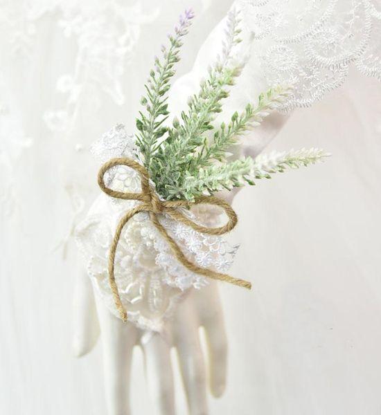 white wrist flower
