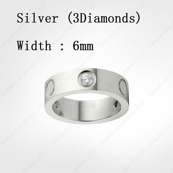 Серебряные бриллианты (6 мм)