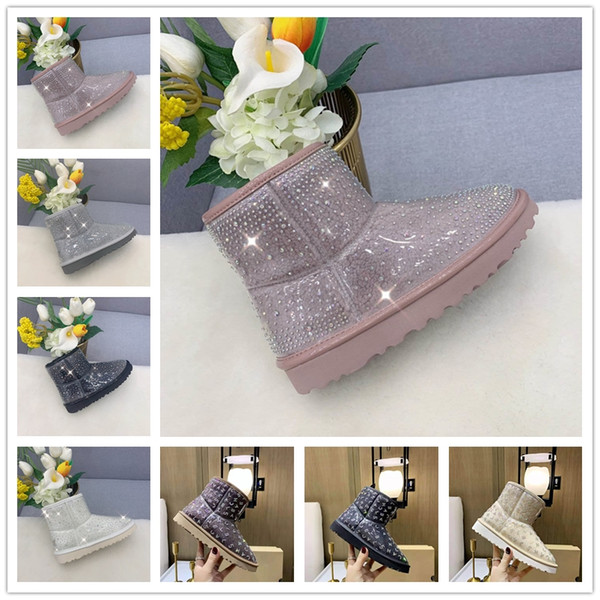 best selling 2021 Fur Half transparent Snow Boots Waterproof Women Boots Classic Clear Mini TPU Winter Boots Designers Ankle Black green Shoes SIZE 36-39