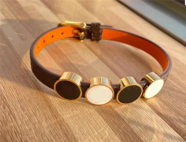 top popular Women Men Charm Bracelets With Letters Bracelet Unisex Leather Buckle Jewelry Free Chain Bracelet Fashion Brangles 5 options 2021