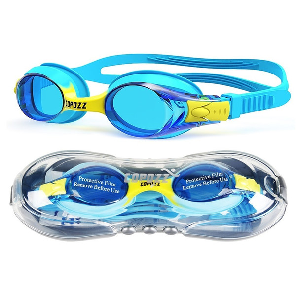top popular Copozz Waterproof Anti Fog UV Child Professional Colored Lenses Diving Swimming Glasses kids Eyewear Swim Goggles Gafas Nata 210305 2021