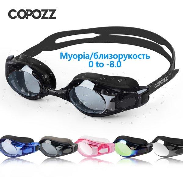 top popular COPOZZ Swimming Goggles Myopia 0 -1.5 to -5 Support Anti fog Eye UV Protecion Swimming Glasses Diopter Adult Men Women Zwembril 210305 2021