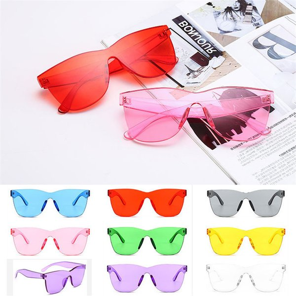 top popular Rimless Polycarbonate Sun Glasses Fashion Uv400 Lens Mirror Transparent Sunglasses Eyewear Vintage Eyeglasses for Women 2021
