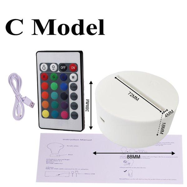USA Stock 3d base C Modello C