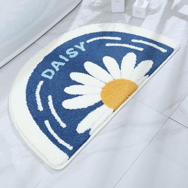 Tapis de bain bleu marine 45x75cm