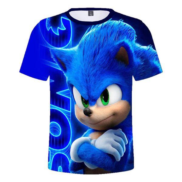 top popular 2-16Y Fashion Casual Cartoon Sonic The Hedgehog T-shirt Kids 3D Print Costume Tshirts Boys Summer Clothes Girls Tshirt DropShip 2021