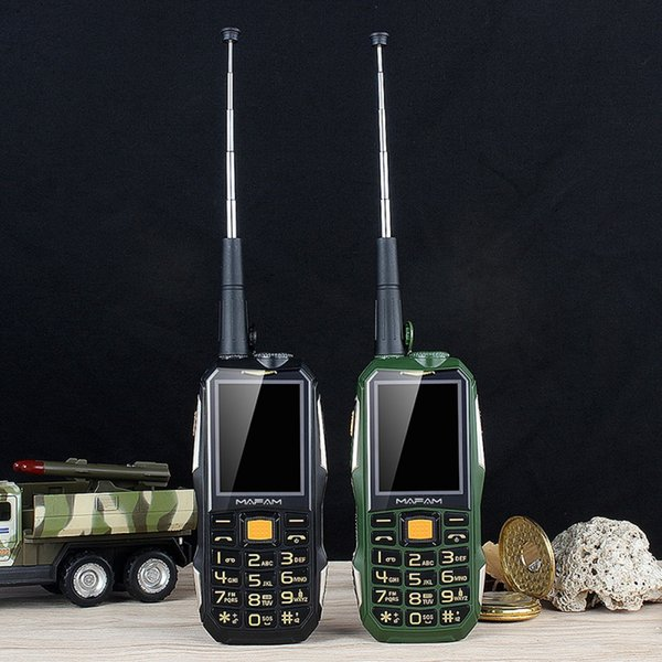 best selling Original Mafam M2+ Rugged Shockproof Outdoor Mobile Phone UHF Hardware Intercom Walkie Talkie Dual Sim Card interphone SOS Dial Belt Clip Powerbank GSM Cellphone