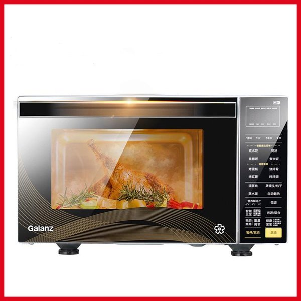 top popular 220V Microwave Oven Micro-steam Oven Smart Full Automatic Flat Panel Light Wave 3-in-1 Micro Steaming and Grilling Machine 2021