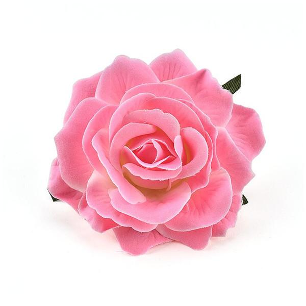 top popular 1pcs 9cm Artificial Silk Flowers Heads For Wedding Decoration White Rose Diy Wreath Gift Box Scrapbooking Craft Fake Flo jllarR 2021