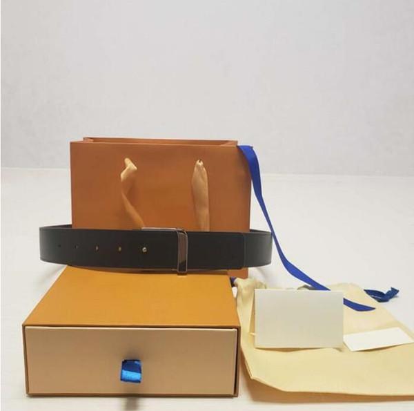 best selling 2022 Fashion Big buckle genuine leather belt with box designer belts men women high quality new mens belts AA08