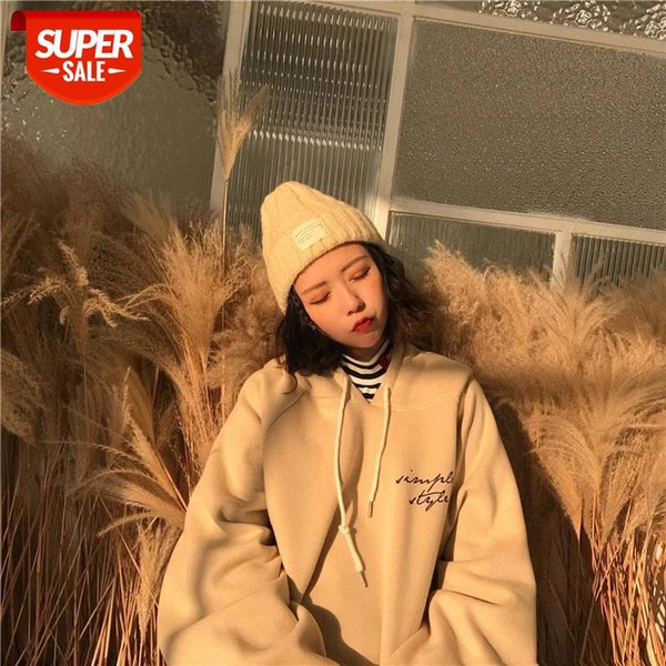 best selling oversized Hoodies Women Thicker harajuku Warm Soft Letter Printed Simple Pockets Leisure Pullovers Womens Trendy Sweatshirts #eD76