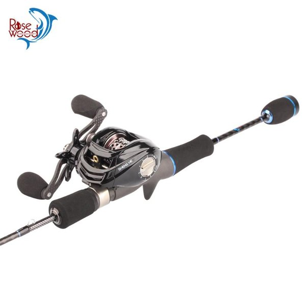 top popular Rod Reel Combo RoseWood Fishing With 1.8m Fuji Casting Fast Action 17+1 BB Baitcasting Tackle Kit 2021