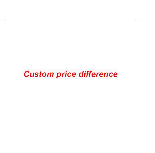 Différence de prix personnalisée