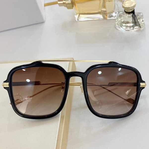 Black gold frame gradient tea lens