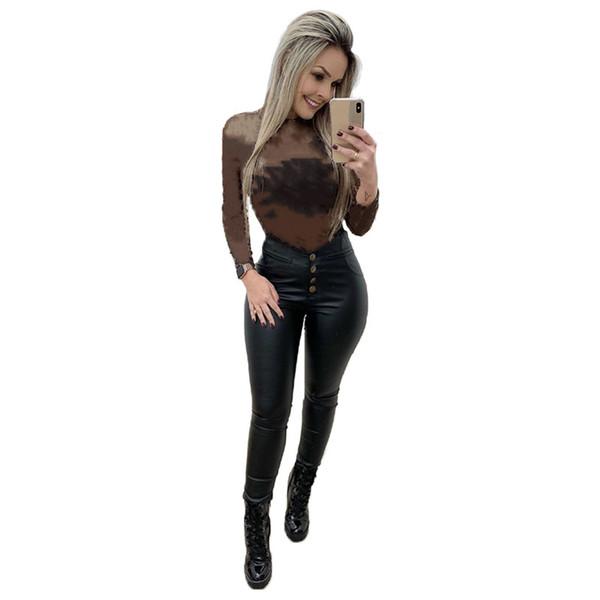 top popular Women sexy mesh sheer hoodies night club sweatshirts long sleeve fashion summer casual clothing crew neck bodycon shirts 4495 2021
